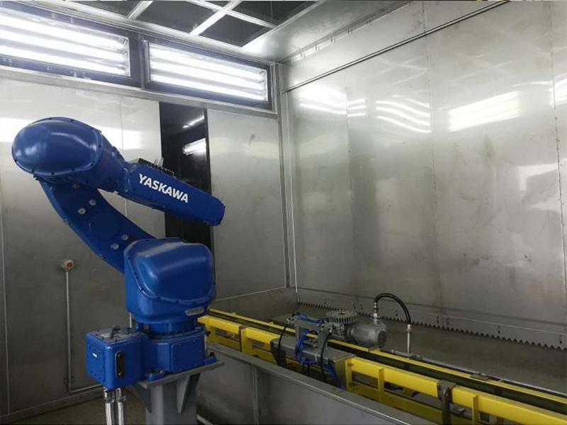 无尘高光机器人自动喷涂流水线